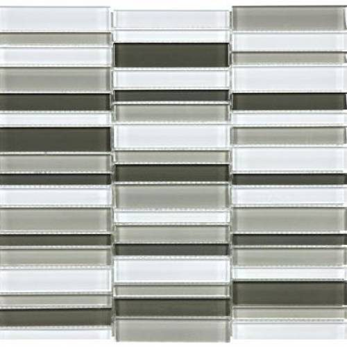 Bliss Glass - Element Series Blend Straight Stacked Glass Mosaics