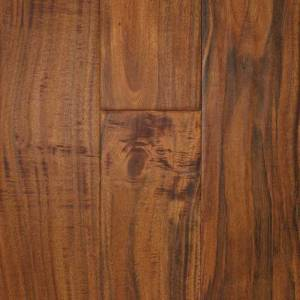 Asian Walnut Handscraped Collection by Casabella Solid Hardwood 4-3/4 in. Asian Walnut - Champagne