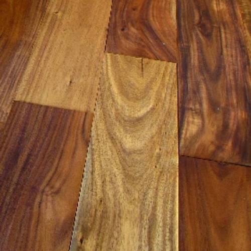 Asian Walnut Handscraped Collection by Casabella Solid Hardwood 4-3/4 in. Asian Walnut - Natural