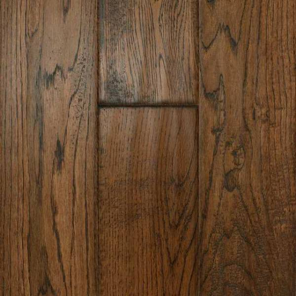 Handscraped Oak Collection by Casabella Solid Hardwood 4-3/4 in. Oak - Gunstock