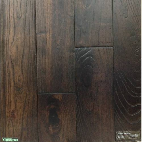 Asian Teak Wire Brushed Collection by Casabella Solid Hardwood 4-3/4 in. Asian Teak - Nova Scotia