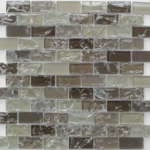 Crackle Effects Glass 1x2 Mosaic