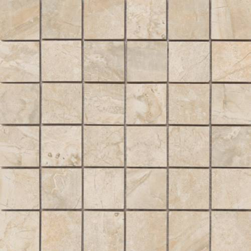 Amira Collection by Happy Floors Mosaic Tile 2x2 Natural