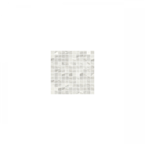 Bardiglio Collection by Happy Floors Mosaic Tile 1x1 Bianco Natural