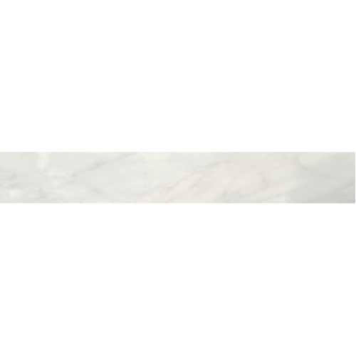 Bardiglio Collection by Happy Floors Porcelain Tile 3x24 Bullnose Bianco Natural