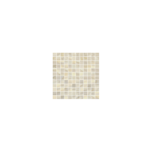 Bardiglio Collection by Happy Floors Mosaic Tile 1x1 Crema Polished