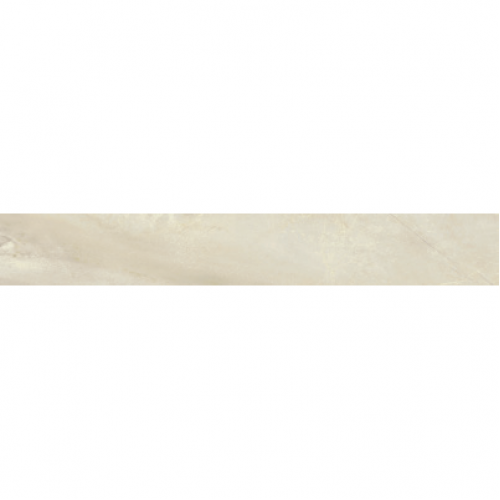 Bardiglio Collection by Happy Floors Porcelain Tile 3x24 Bullnose Crema Natural