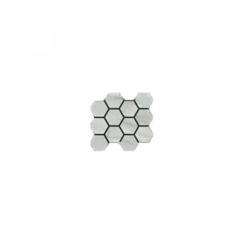 Bardiglio Collection by Happy Floors Mosaic Tile 12x14 Hexagon Grigio Natural