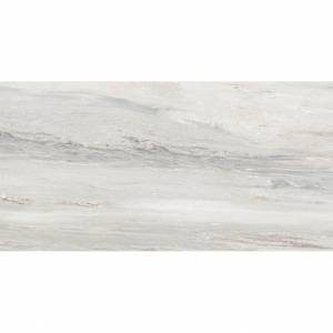 Bellagio Collection by Happy Floors Porcelain Tile 3x24 Bullnose Silver