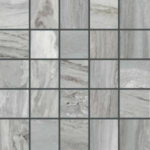 Bellagio Collection by Happy Floors Mosaic Tile 2.4x2.4 Silver