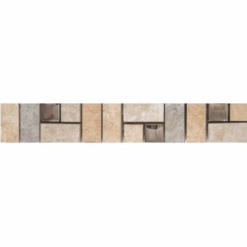 C-Stone Collection by Happy Floors Mosaic Tile 2x12 Border