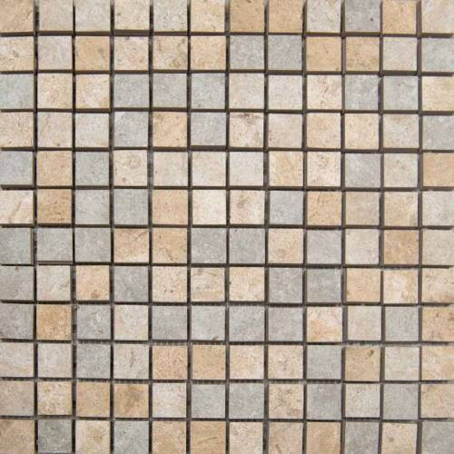 C-Stone Collection by Happy Floors Mosaic Tile 1x1 Mix