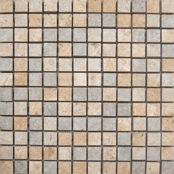 C Stone Collection By Happy Floors Mosaic Tile 1x1 Mix