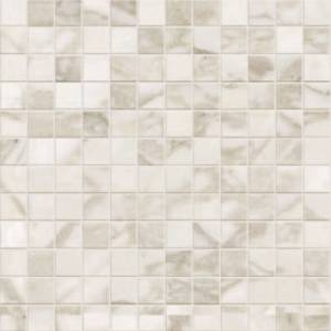 Calacatta Collection by Happy Floors Mosaic Tile 1x1in. - Natural