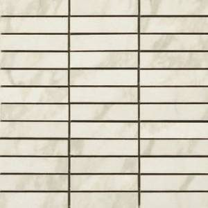 Calacatta Collection by Happy Floors Mosaic Tile 1x4 in. - Semi-Polished