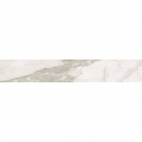 Calacatta Collection by Happy Floors Porcelain Tile 3.2x12.6 in. Bullnose - Natural