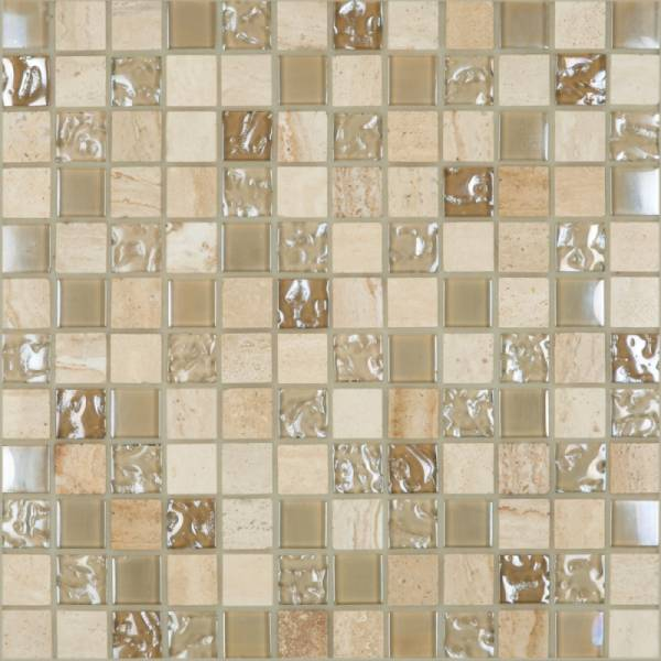Cordoba Collection By Happy Floors Mosaic Tile 1x1 Grey