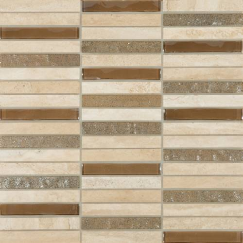 Cordoba Collection by Happy Floors Mosaic Tile 0.6x4 Beige Linear