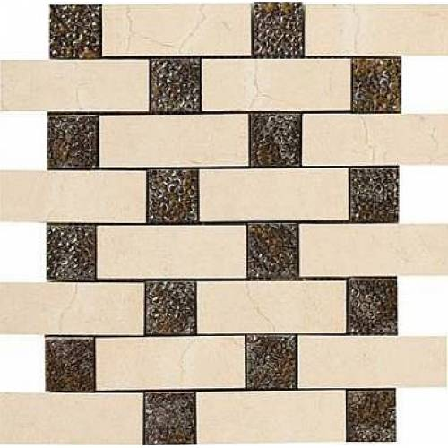 Crema Marfil Collection by Happy Floors Mosaic Tile 12.6x12.6 Brick