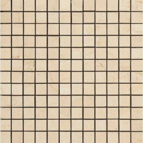 Crema Marfil Collection by Happy Floors Mosaic Tile 1x1 Natural