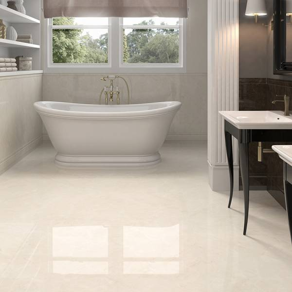 Crystal Collection By Happy Floors Mosaic Tile 1x1 Cream