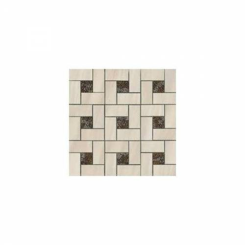 Dolomite Collection by Happy Floors Mosaic Tile 12x12 Beige Pinwheel Polished