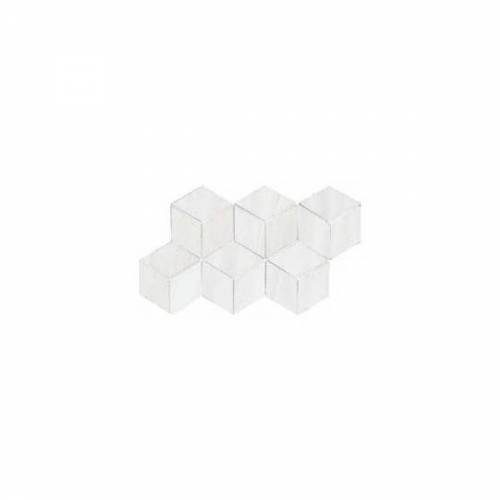 Dolomite Collection by Happy Floors Mosaic Tile 7x12.6 White Hexagon Polished