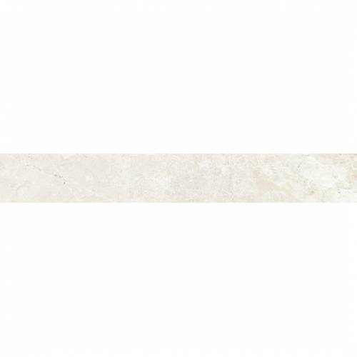 Dolomite Collection by Happy Floors Porcelain Tile 3.2x24 Bullnose White Natural