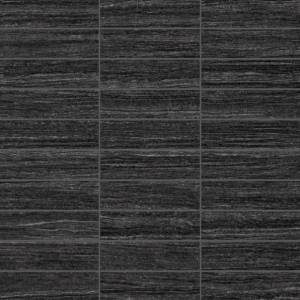 E-Stone Collection by Happy Floors Mosaic Tile 1.25x4 Black