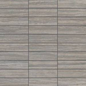 E-Stone Collection by Happy Floors Mosaic Tile 1.25x4 Grey