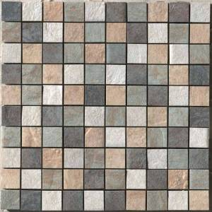 Eternity Collection by Happy Floors Mosaic Tile 1.5x1.5 Gold/Almond/Forest/Multicolor