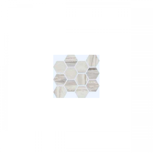 Exotic Stone Collection by Happy Floors Mosaic Tile 12x14 Hexagon Arctic Natural