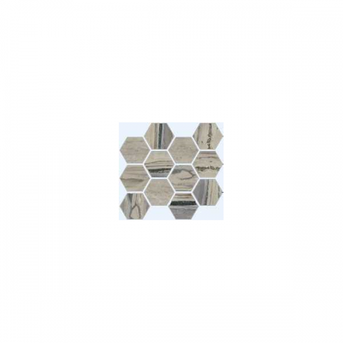 Exotic Stone Collection by Happy Floors Mosaic Tile 12x14 Hexagon Fossil Natural