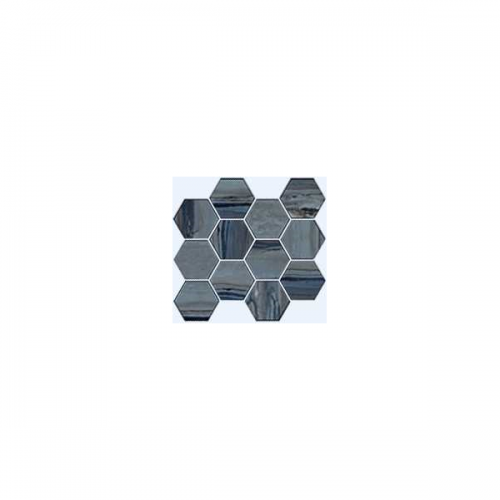 Exotic Stone Collection by Happy Floors Mosaic Tile 12x14 Hexagon Lagoon Natural