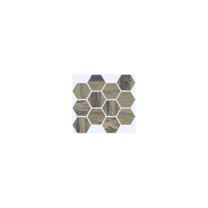Exotic Stone Collection by Happy Floors Mosaic Tile 12x14 Hexagon Tundra Natural