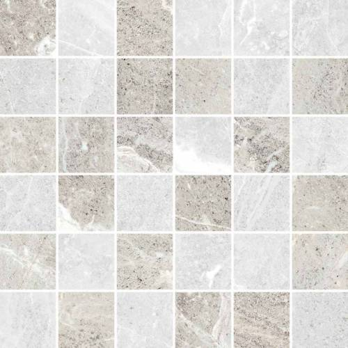 Flint Collection by Happy Floors Mosaic Tile 2x2 Ice