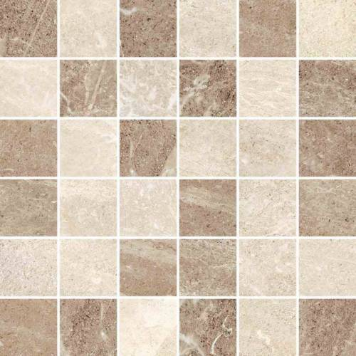 Flint Collection by Happy Floors Mosaic Tile 2x2 Cream