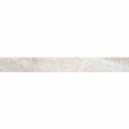 Flint Collection by Happy Floors Porcelain Tile 2.8x24 Bullnose Silver
