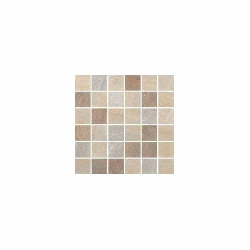 Lefka Collection by Happy Floors Mosaic Tile 2x2 Sand/Gold/Walnut Mix