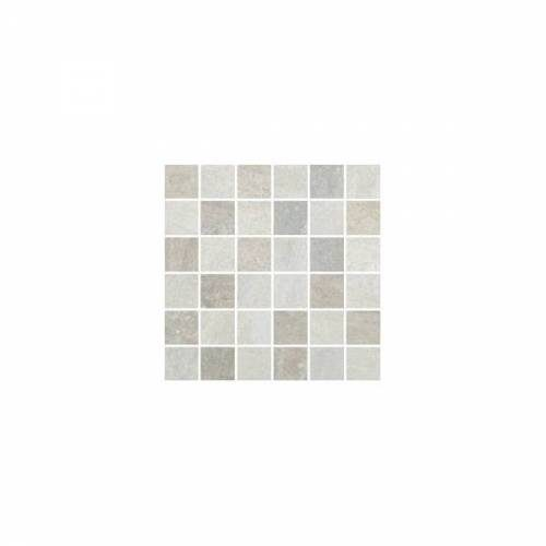 Lefka Collection by Happy Floors Mosaic Tile 2x2 White/Grey Mix