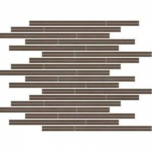 Neostile Collection by Happy Floors Mosaic Tile 12x12 Muretto Chocolate
