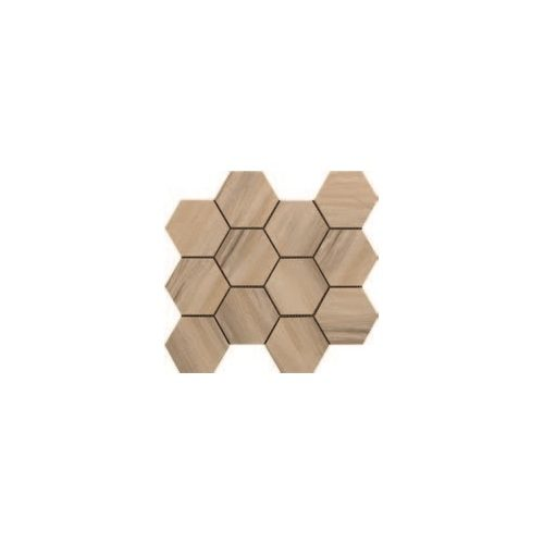 Paint Stone Collection by Happy Floors Mosaic Tile 12x13 Hexagon Beige