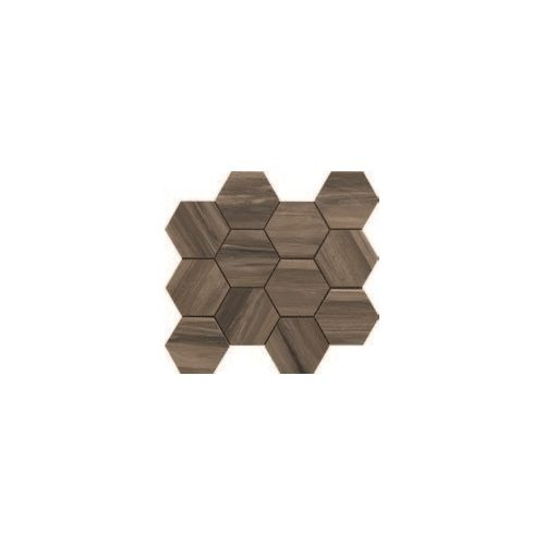 Paint Stone Collection by Happy Floors Mosaic Tile 12x13 Hexagon Brown