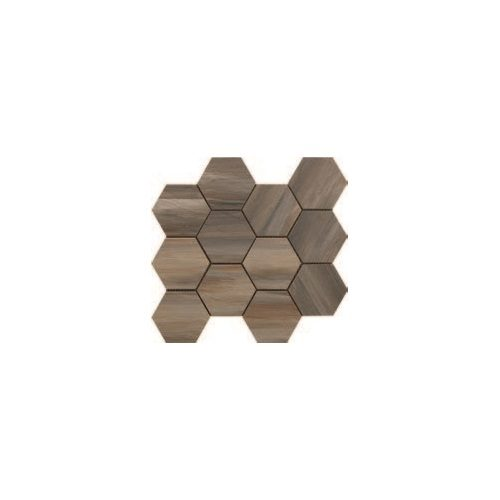 Paint Stone Collection by Happy Floors Mosaic Tile 12x13 Hexagon Forest