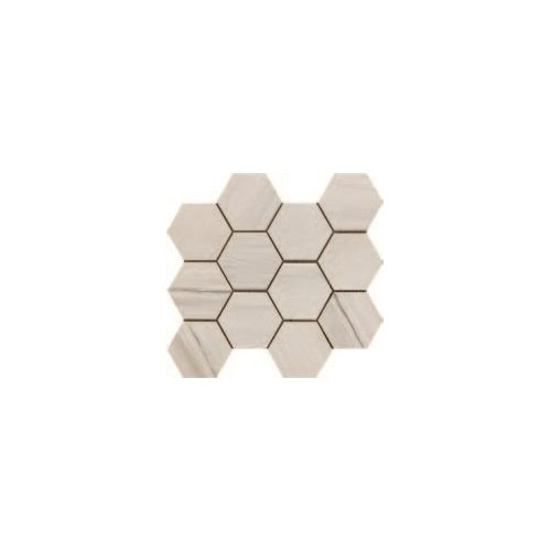 Paint Stone Collection by Happy Floors Mosaic Tile 12x13 Hexagon White