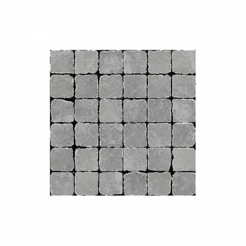 Pietra d'Assisi Collection by Happy Floors Mosaic Tile 2x2 Grigio