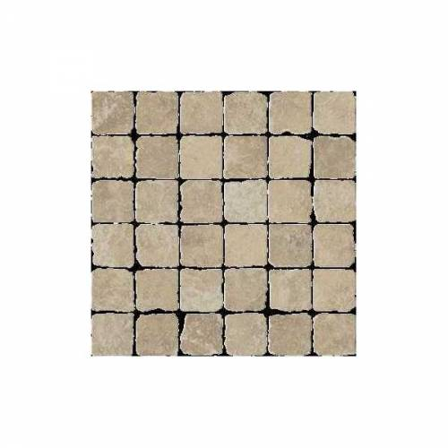 Pietra d'Assisi Collection by Happy Floors Mosaic Tile 2x2 Noce
