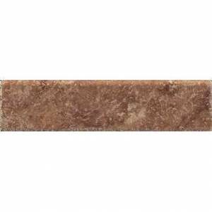 Pietra d'Assisi Collection by Happy Floors Porcelain Tile 3x12 Bullnose Rosso