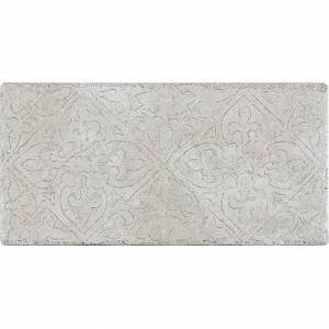 Pietra d'Assisi Collection by Happy Floors Porcelain Tile 8x16 Deco Bianco