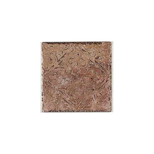 Pietra d'Assisi Collection by Happy Floors Porcelain Tile 8x8 Deco Rosso